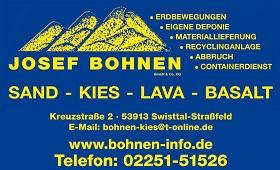 Josef Bohnen Sand - Kies - Lava - Basalt