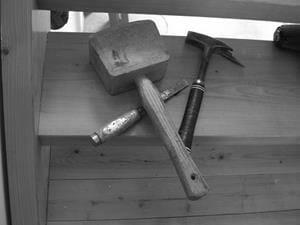 Werkzeuge vom Zimmermann